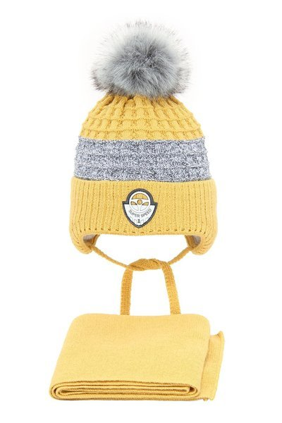 Winter hat for boy with pompom Milord